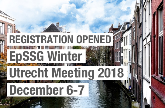 EPSSG Winter Utrecht meeting 2018 - December 6-7